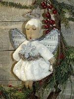 #pt 126 My Primitive OH BELLA ANGEL Vintage Style Ornies Pattern pt126