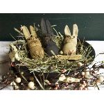 My Primitive Trio Of Bunnies e- Pattern-primitive,bunnies,rabbit,easter,spring,pattern,bunny,muslin,ornie,bowl filler