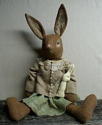 My Primitive EASTER SUNDY BUNNY pt100