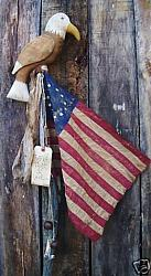 """MY PRIMITIVE AMERICANA EAGLE FLAG POLE"" PATTERN"