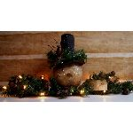 MY PRIMTIVE FROSTY SNOWMAN SWAG PATTERN-WINTER,SNOWMAN,E-PATTERN,DECORATION,HANDMADE,PRIMITIVE,LIGHTED,STRING LIGHTS,WAXY BULBS,CHRISTMAS,MANTLE,