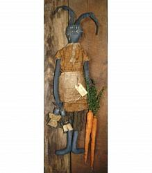 "My Primitive ""Garden Pickins"" Rabbit Door Hanger Epattern"