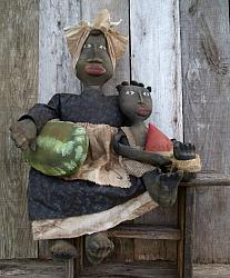 MY PRIMITIVE KIPSEY AND BOOKER DOLLS