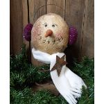 "My Primitive ""Muffie"" Snowman Epattern-winter,christmas,snowman,rusty,bed spring,pattern,epattern,"