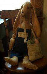 "MY PRIMITIVE  ""PETER"" BUNNY RABBIT PATTERN PT022"