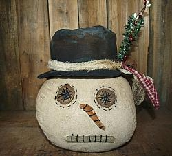 My Primitive Snowman Sitter Head Pattern