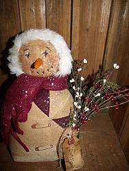 "My Primitive ""ALL BUNDLED UP"" Snowman Pattern"