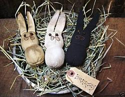My Primitive Trio Of Bunnies e- Pattern