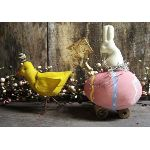 "My Primitive ""Easter Parade"" Pattern-epattern,e pattern,primitive,pattern,easter,rabbit,bunny,spring,egg,cart,chick"