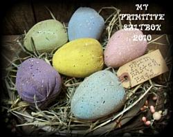 MY PRIMITIVE SPECKLED EASTER EGGS PT023