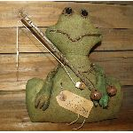 MY PRIMITIVE FLY FISHING FROG SITTER EPATTERN