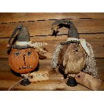 MY PRIMITIVE HALLOWEEN JACK AND OLDE HAG MAKE-DO'S PATTERN
