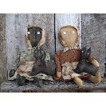 MY PRIMITIVE KATE AND SAMMY DOLLS-PRIMITIVE,PATTERN,EPATTERN,CAT,DOLL,PRAIRIE,SITTER