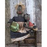MY PRIMITIVE KIPSEY AND BOOKER DOLLS-PRIMITIVE,PATTERN,EPATTERN,DOLLS,WATERMELON,MELON,BLACK,FOLKART
