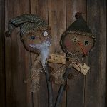 "MY PRIMITIVE ""NICK STICK AND TWIGGS"" E-PATTERN-CROCK,EXTREMELY,PRIMITIVE,GRUBBY,SANTA,NICK,SNOWMAN,GUY,WINTER,CHRISTMAS,PATTERN,EPATTERN,E-PATTERN"