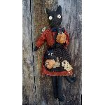 "MY PRIMITIVE ""DAY AT THE PATCH"" PATTERN-PRIMITIVE,PATTERN,EPATTERN,FALL,HALLOWEEN,PUMPKINS,DOLL,CAT,HANGER,SITTER"