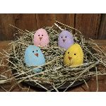 My Primitive Peep Eggs Epattern-my primitive saltbox,prim,primitive,pattern,epattern,instant download,eggs,chicks,peeps,easter,spring,ornies,bowl fillers,tucks