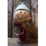 My primitive winter bobble snowman pattern-winter,snowman,pattern.e-pattern,rusty,bed spring,make-do