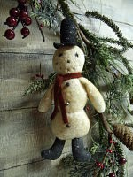 VINTAGE STYLE ORNIES COLLECTION-VINTAGE FROSTY PATTERN-VINTAGE, ORNIE, ORNAMENTS, HANDMADE, PATTERN, WINTER, CHRISTMAS TREE, TREE, SNOWMAN
