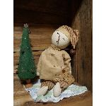 "MY PRIMITIVE ""WAITING ON SANTA"" SNOWMAN"
